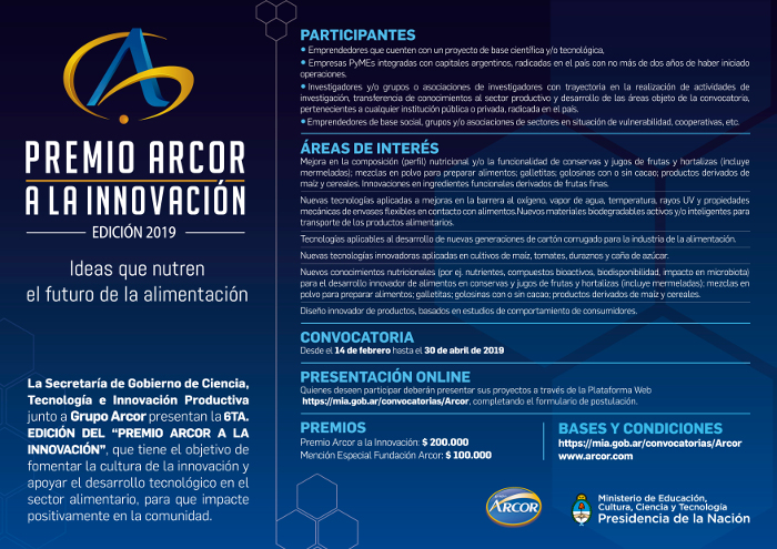 Premio Arcor 2019 Afiche largo A4 final